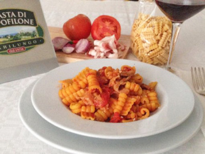 Gobbetti pomodoro e pancetta